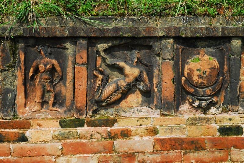 Paharpur Bihar arkeologiska platser i Bangladesh arkivfoton