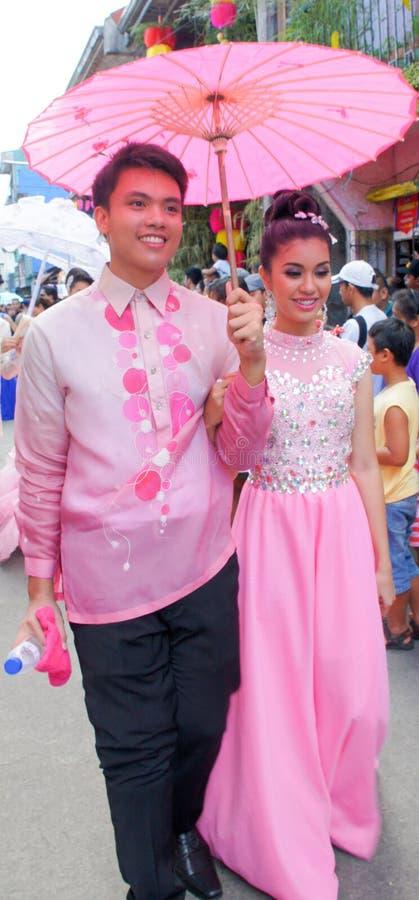 PAHIYAS festiwalu 2015 para zdjęcia stock