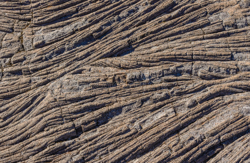 Pahoehoe lava rock. In la Reunion island royalty free stock images