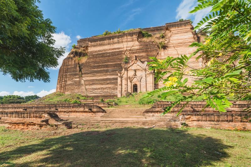 Pahtodawgyi Pagoda, Mingun, not far from Mandalay, Myanmar. Pahtodawgyi Pagoda is an incomplete stupa in Mingun on the west side of the Irrawaddy River royalty free stock photo