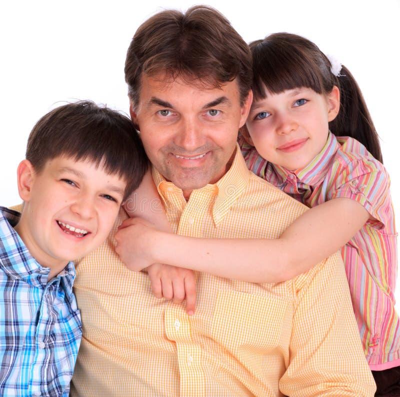 Pai & crianças fotos de stock royalty free