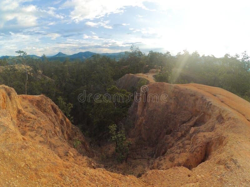 Pai Canyon. At Maehongsorn Thailand royalty free stock photos