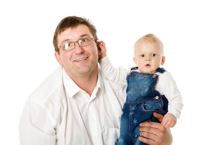 Pai com bebé imagem de stock