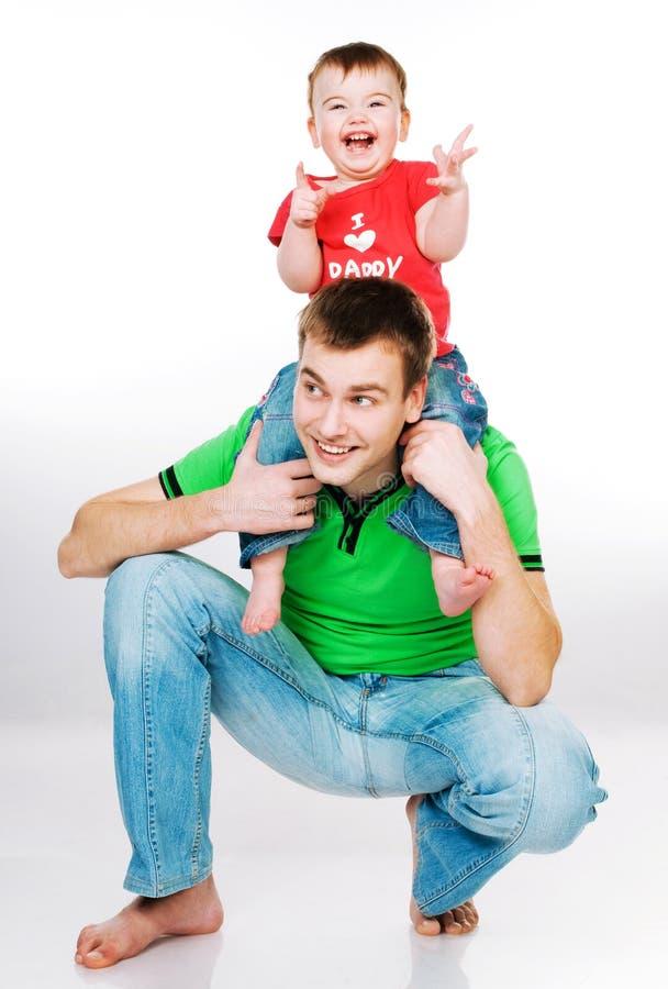Pai com bebê fotografia de stock royalty free