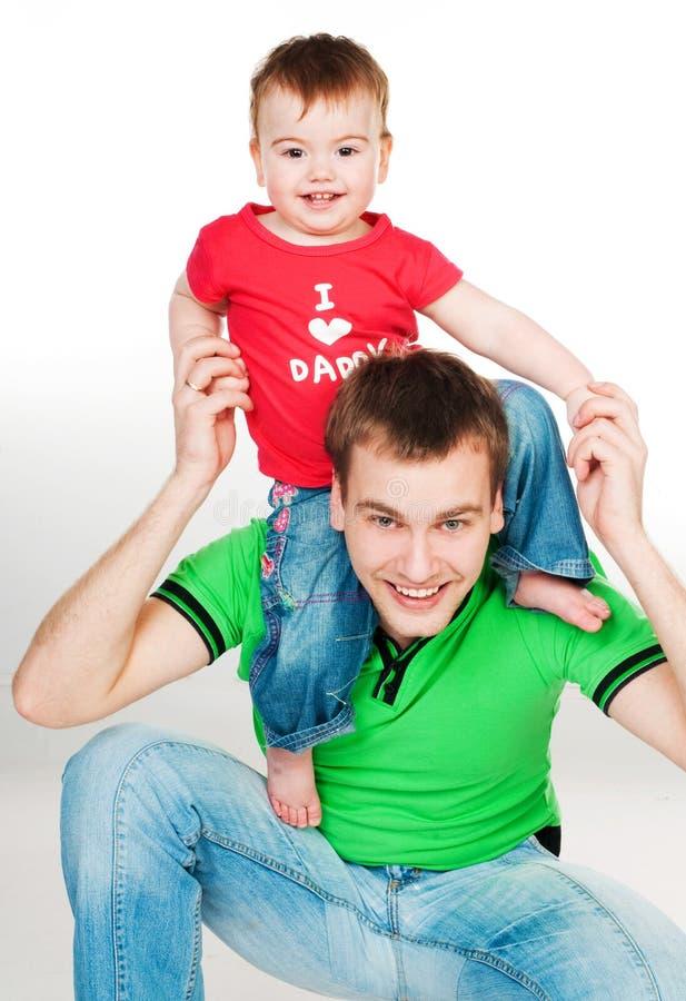 Pai com bebê fotografia de stock
