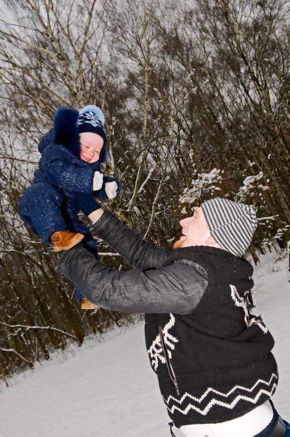 Pai com criança imagem de stock