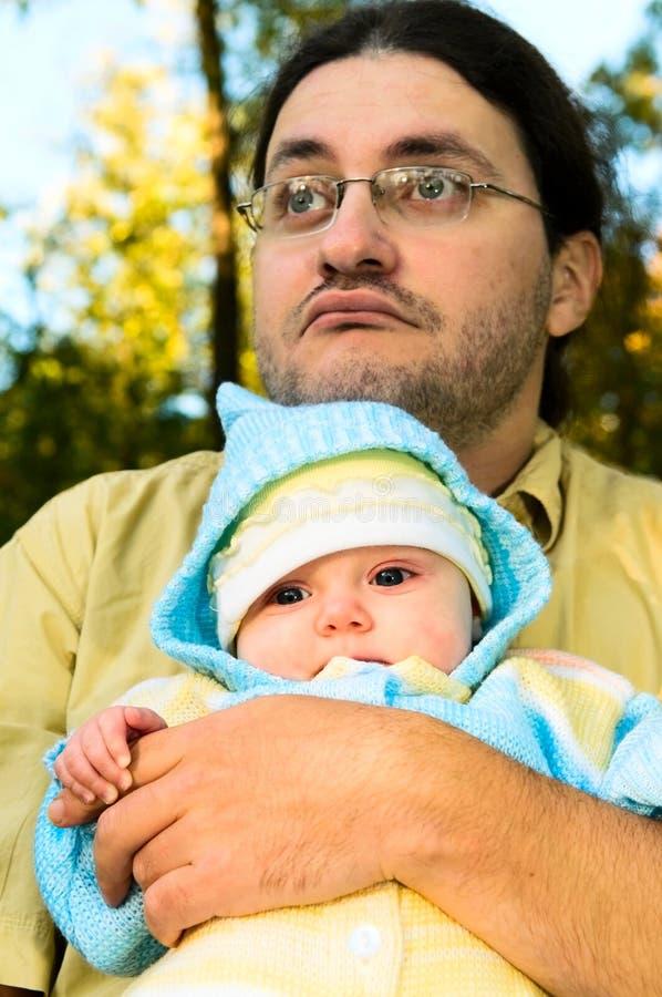 Pai com criança fotografia de stock royalty free