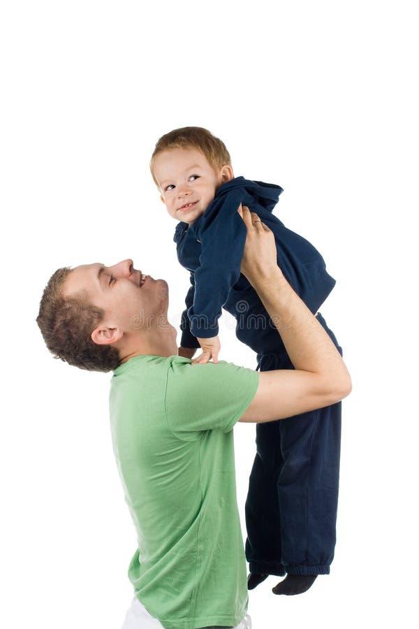 Pai com criança fotografia de stock