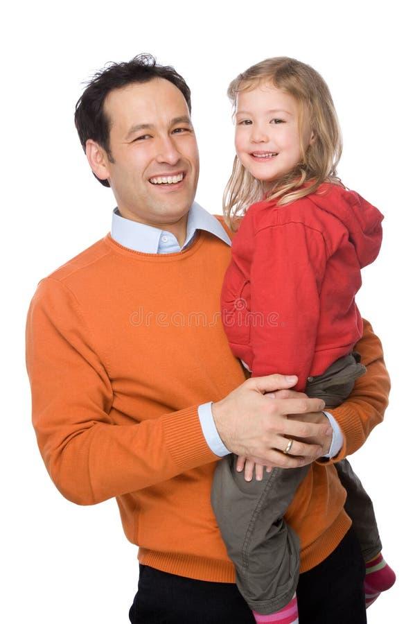 Pai com filha foto de stock