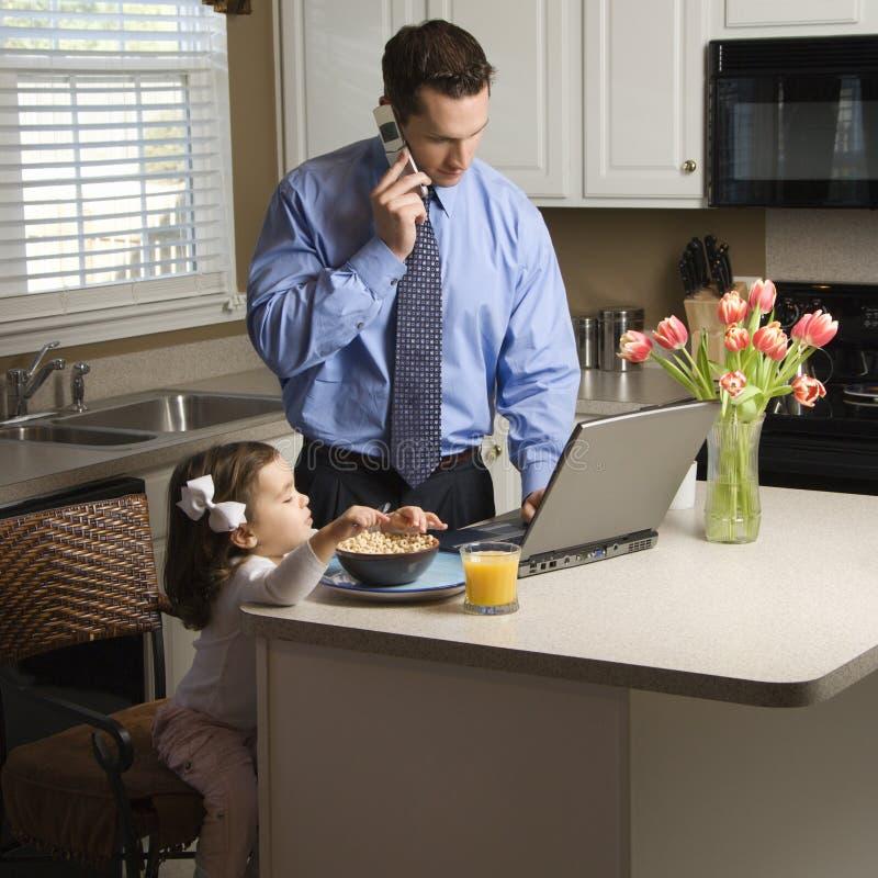 Pai com filha. foto de stock