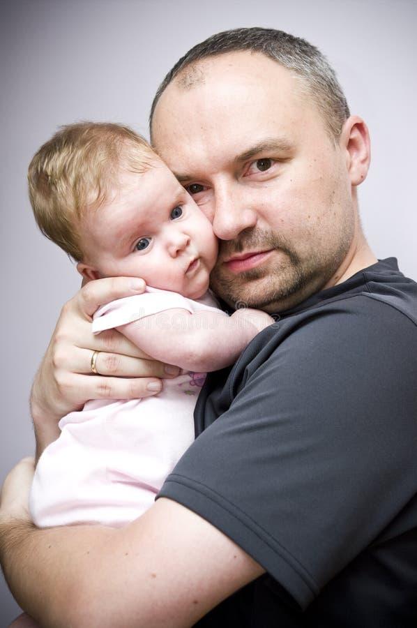 Pai com filha do bebê imagens de stock