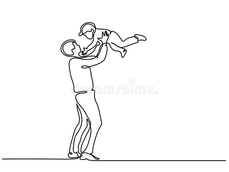 Pai com filho ilustração royalty free