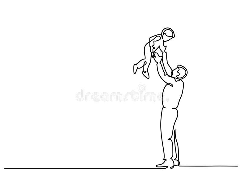 Pai com filho ilustração stock