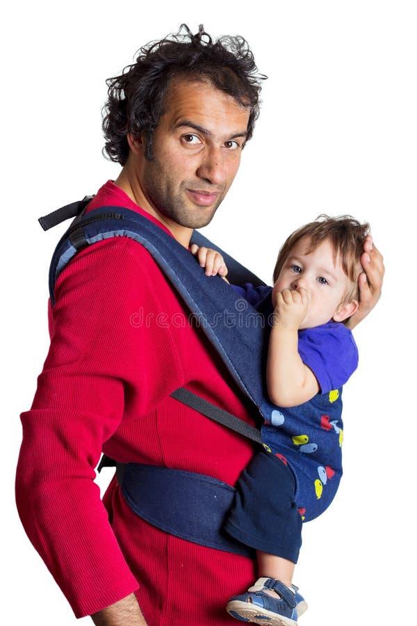 Pai com filho foto de stock