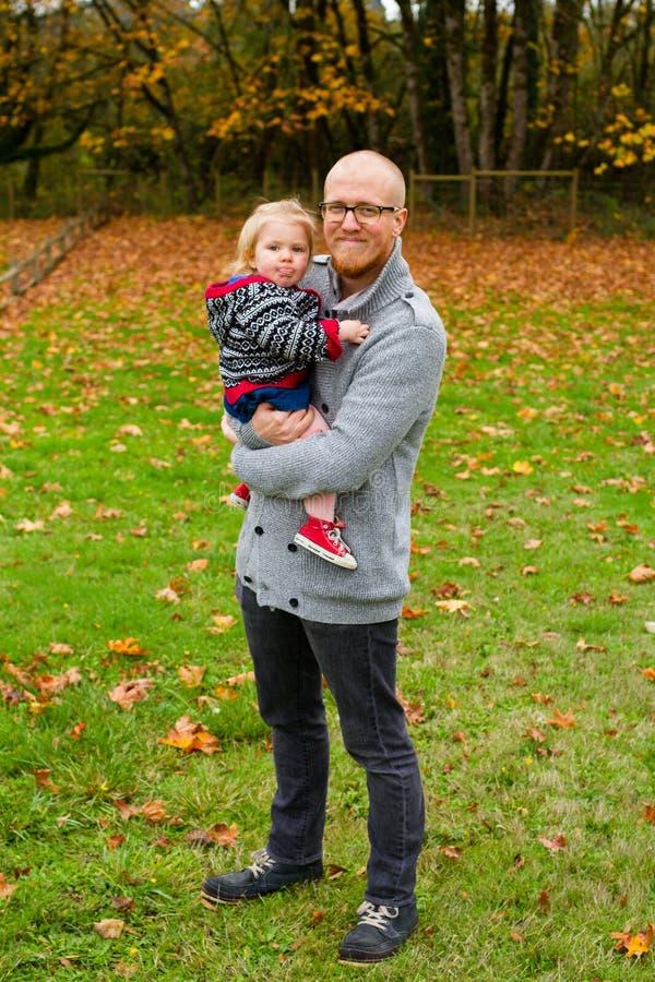 Pai Daughter Lifestyle Portrait imagens de stock