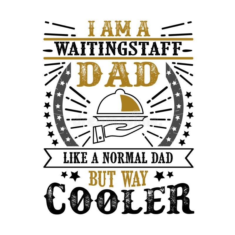 Pai de espera Day Quote do pessoal e prov?rbio fotos de stock