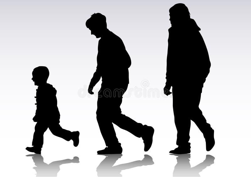Pai de família ilustração royalty free