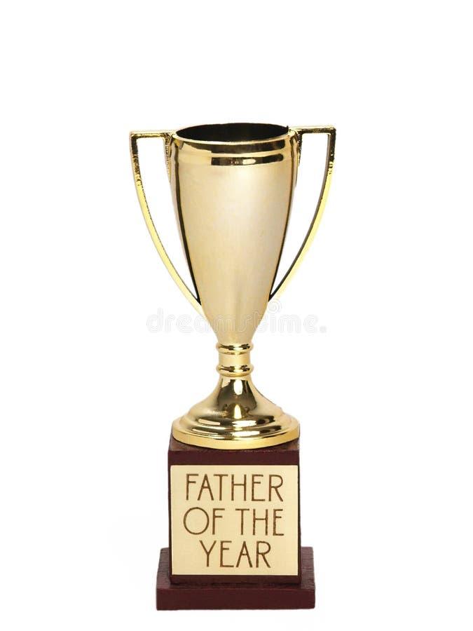 Pai do troféu do ano fotografia de stock
