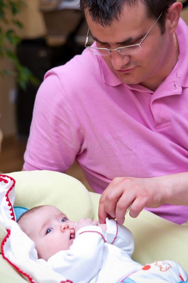 Pai e bebé imagem de stock royalty free