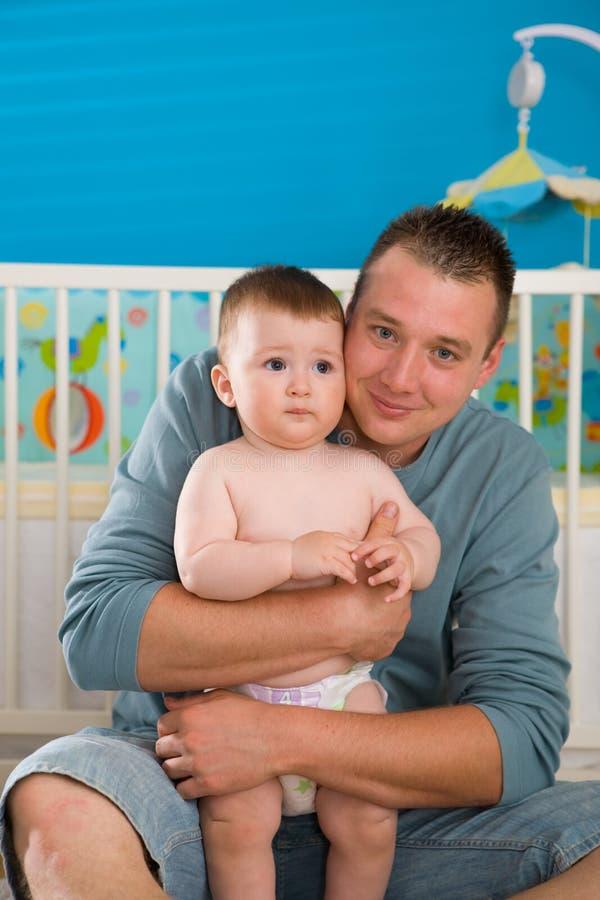 Pai e bebê fotos de stock
