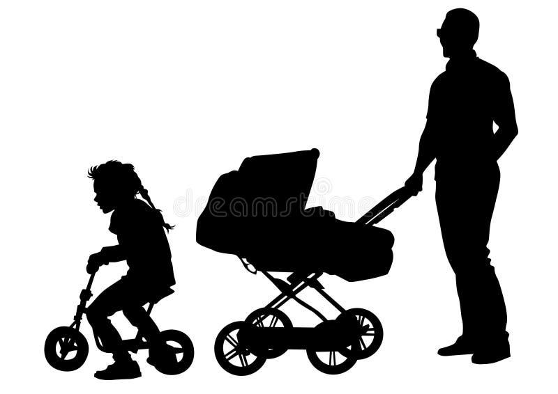 Pai e criança ilustração royalty free