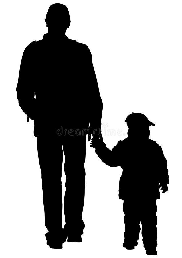 Pai e criança ilustração stock