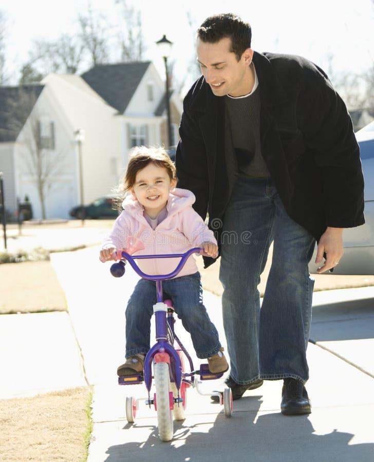 Pai e filha. fotografia de stock