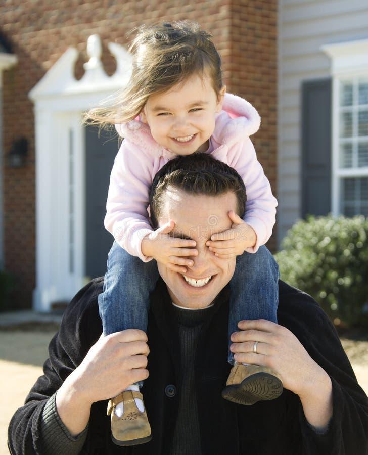 Pai e filha. fotografia de stock royalty free