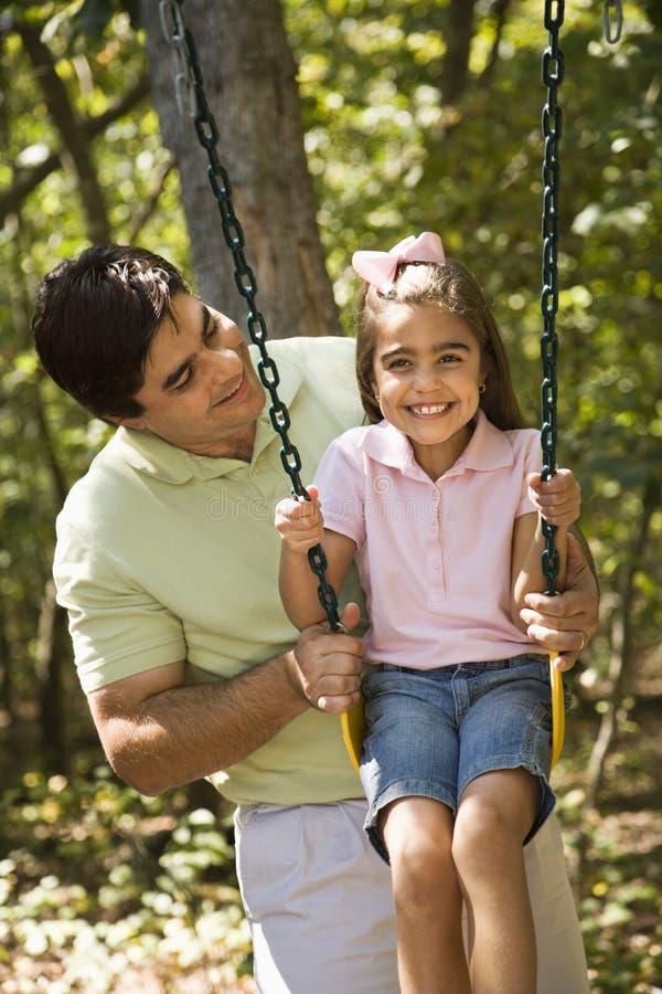 Pai e filha. imagem de stock royalty free