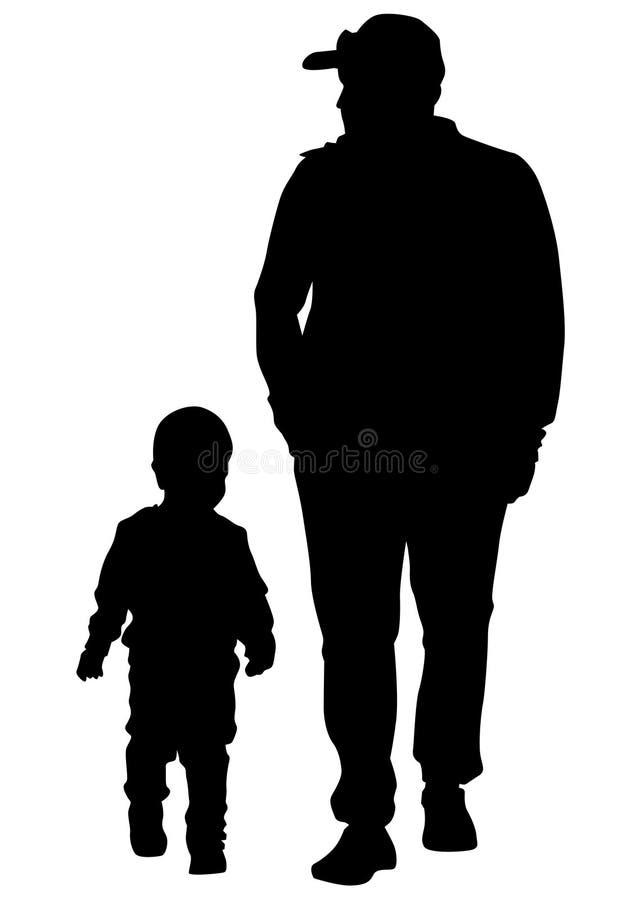 Pai e filho cinco ilustração royalty free