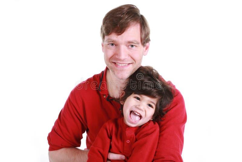Pai e filho felizes fotos de stock