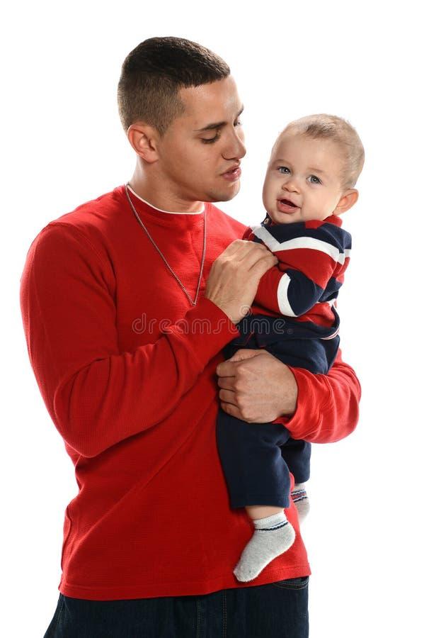 Pai e filho latino-americanos fotografia de stock