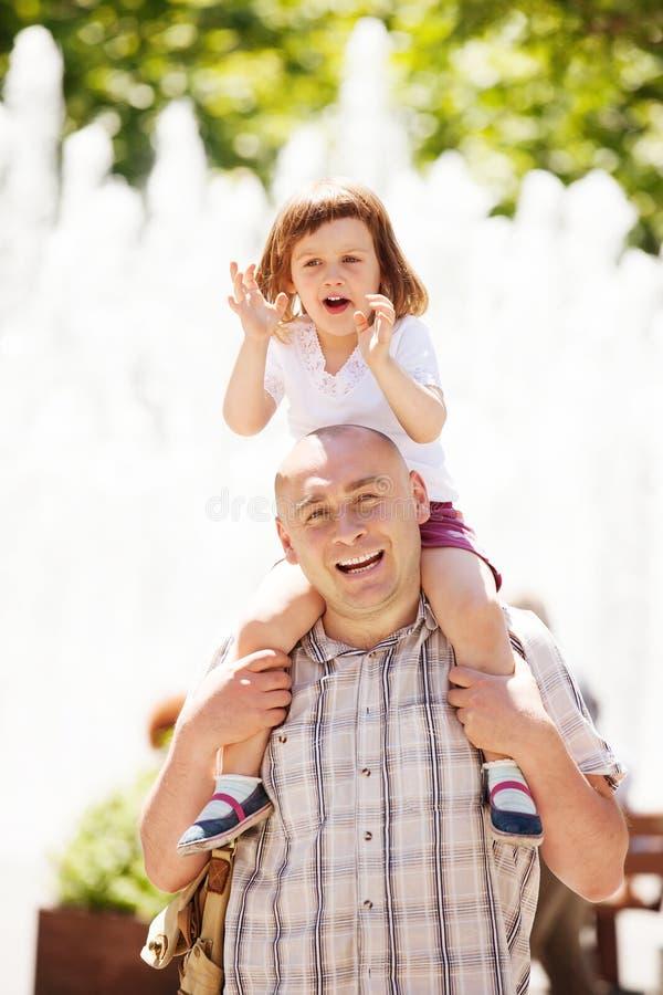 Pai feliz com bebê fotografia de stock royalty free