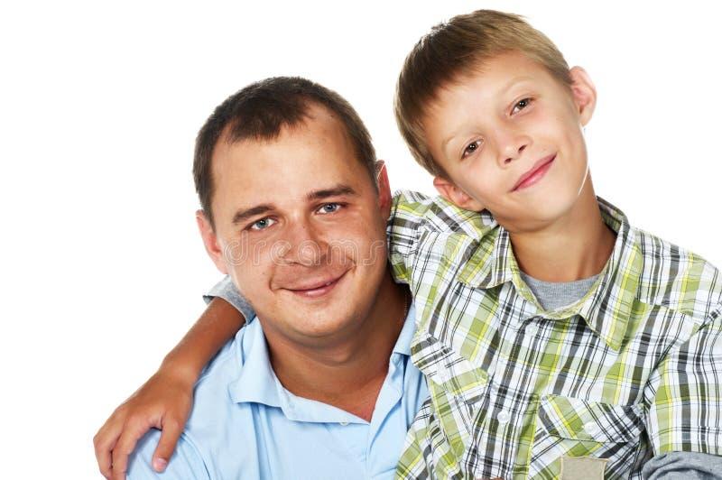 Pai feliz com seu filho imagens de stock