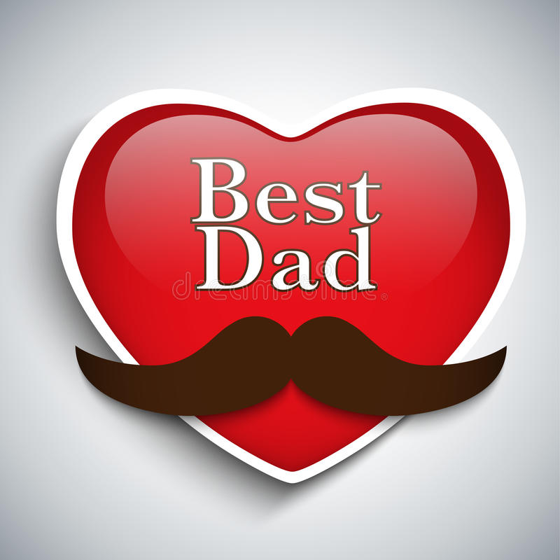 Pai feliz Day Mustache Love ilustração do vetor