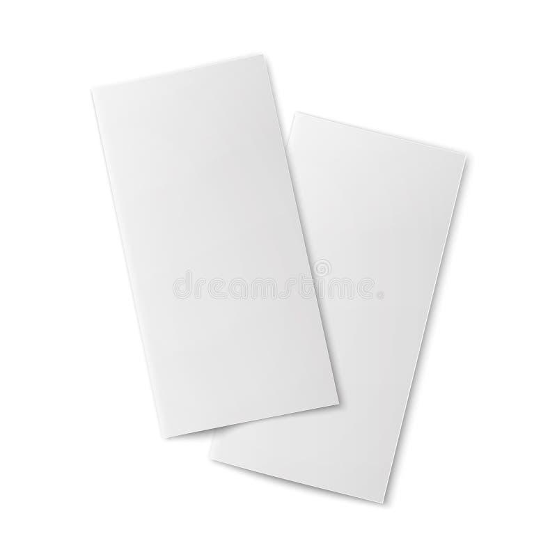 Paia degli opuscoli di carta bifold in bianco illustrazione di stock