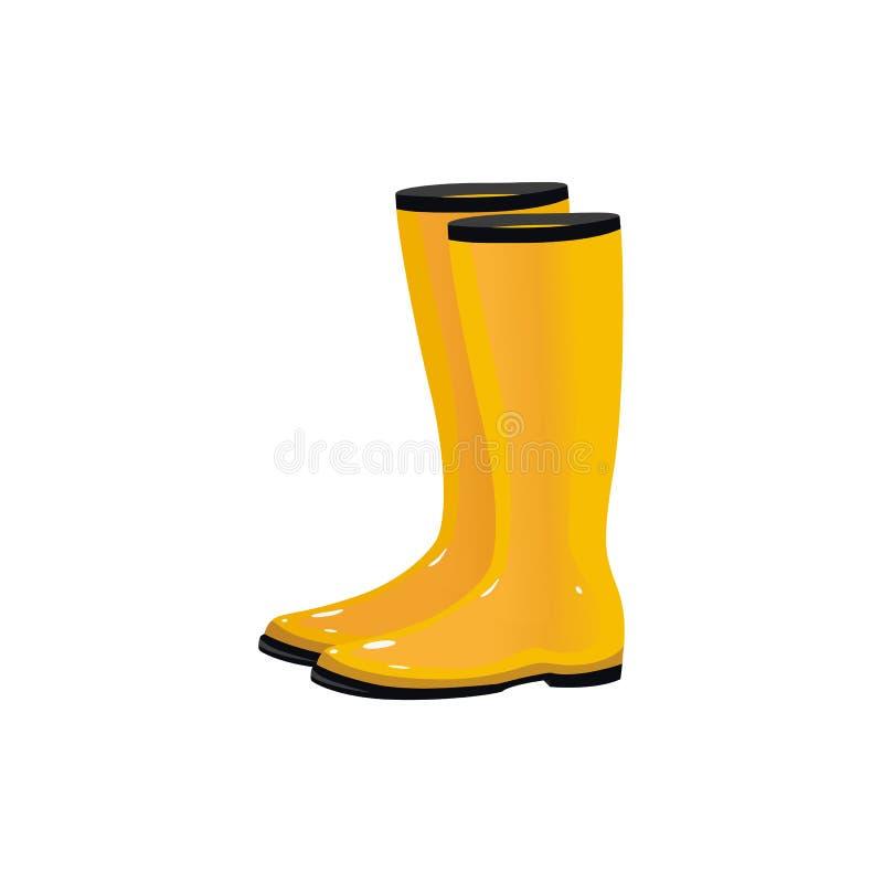 Paia degli stivali di pioggia, wellingtons, calzature di autunno royalty illustrazione gratis