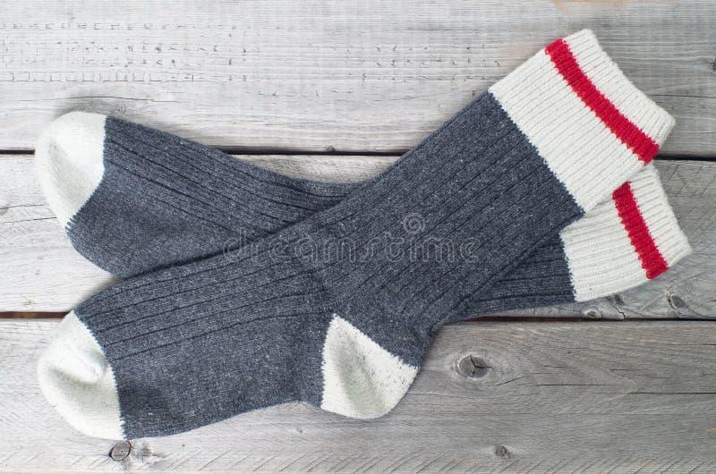 Paia dei calzini della lana immagine stock libera da diritti