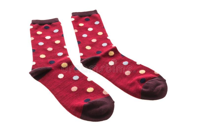 Paia del calzino del cotone per abbigliamento immagini stock