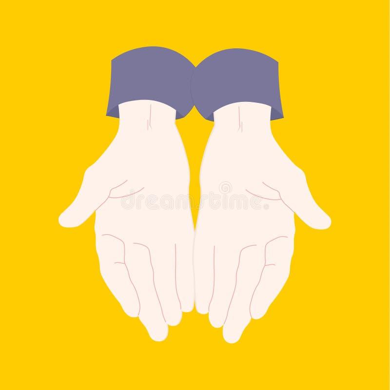 Paia del giovane delle mani royalty illustrazione gratis