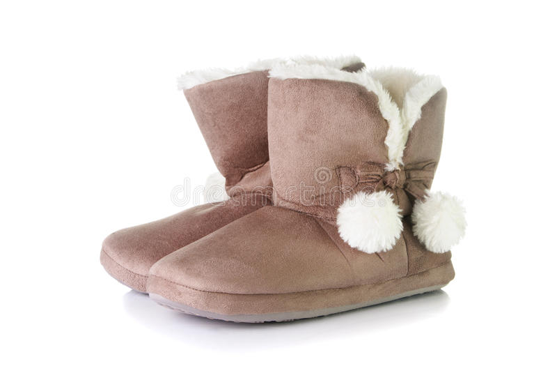Paia delle pantofole calde fotografia stock