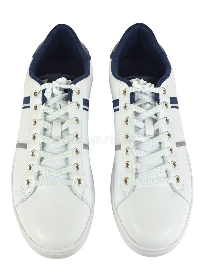 Paia delle scarpe da tennis bianche immagine stock libera da diritti