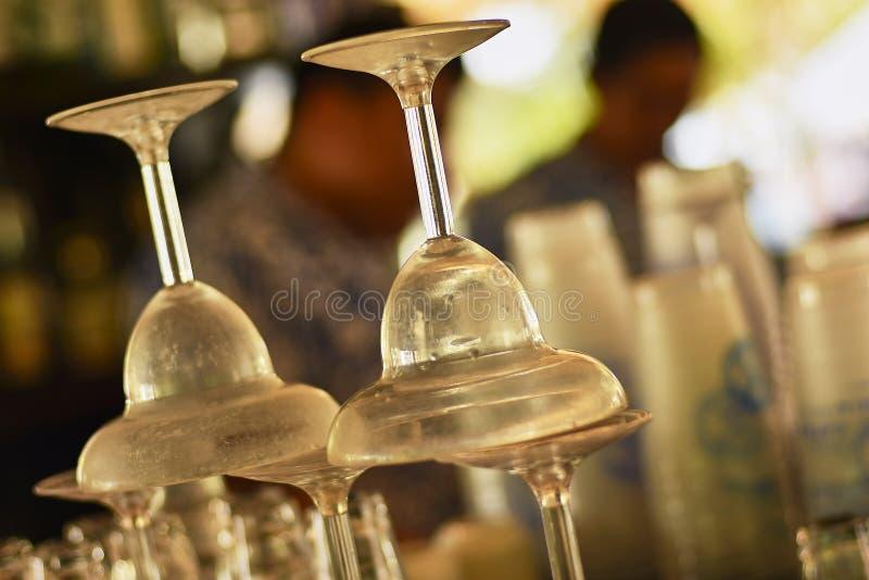 Paia delle tazze di champagne fotografie stock