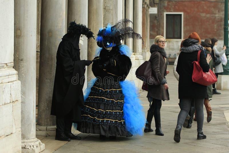 Paia vestite immaginazione a Venezia fotografie stock