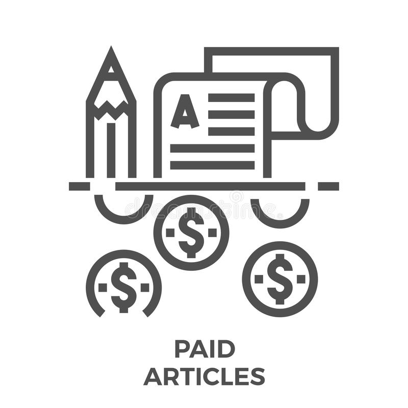 Paid articles icon vector illustration