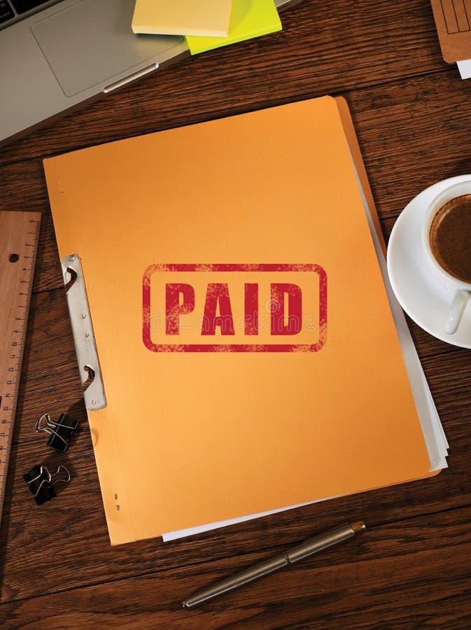 Paid folders concept stock photo