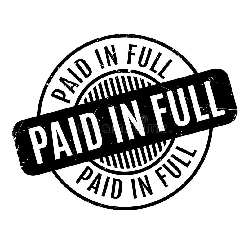 Paid In Full rubber stamp. Grunge design with dust scratches. Effects can be easily removed for a clean, crisp look. Color is easily changed vector illustration