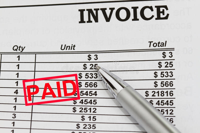 Paid Invoices stock photography