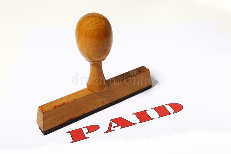 Download Paid stamp stock photo. Image of buying, rubber, market - 12441644