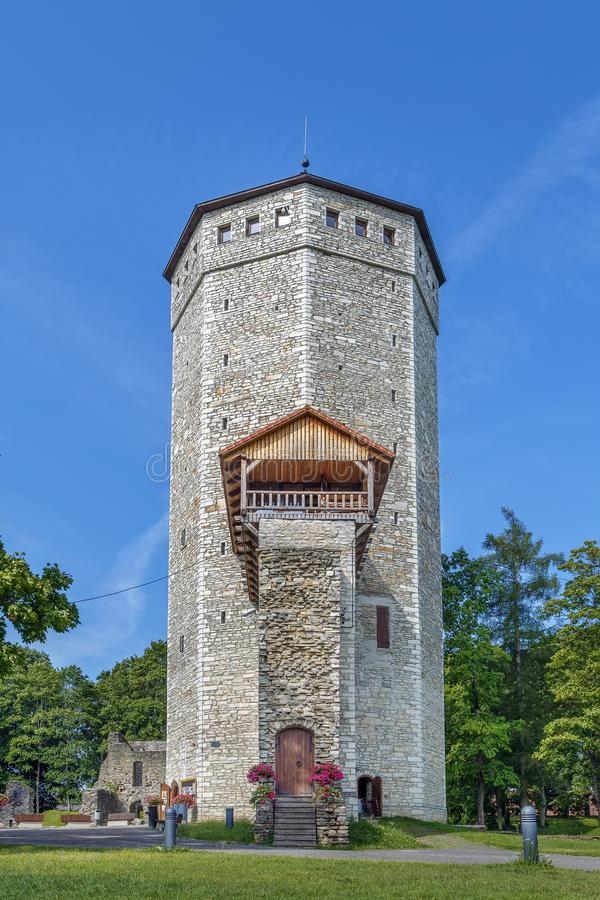 Paide castle, Estonia. Castle was built in Paide sometime in 1265 or 1266, Estonia stock images